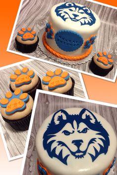 HBU Houston Baptist University cake www.facebook.com/jenniliciousdesserts