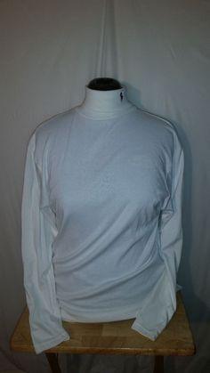 Womens Ralph Lauren White Long Sleeve Turtleneck Shirt XL #RalphLauren #Turtleneck