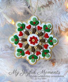 Handcrafted Polymer Clay Ornament por MyJoyfulMoments en Etsy, $15.00