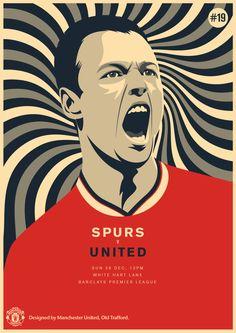 Match poster: Tottenham Hotspur vs Manchester United, 28 December 2014. Designed by @manutd.