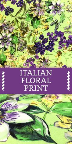 Italian Painterly Floral Print Viscose in Spring Colors (Made in Italy - 100% Viscose)