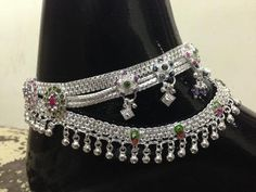 20 Latest Silver Payal Designs - ArtsyCraftsyDad Silver Payal, Silver Anklets, Jhumka Designs, Gold Jhumka Earrings, Anklet Designs, Temple Jewellery, Jewelry, Heart Melting, Designer Earrings