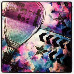 #art #artjournal #inky #messy #emboss #rubbersramp #mystampbox #vivalasvegastamps