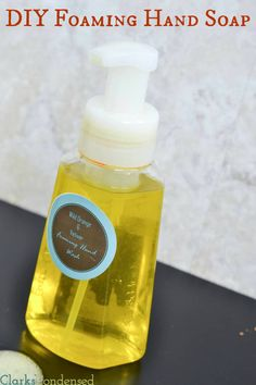DIY Foaming Hand Soap Tutorial -- this easy trick will save you money, and can be made in any scent you want (free editable label included!)