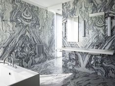 FIRM: Selldorf Architects | PRODUCT: Bianco Ondulare Stone Source