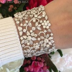 Best Diamond Bracelets : Flowers on flowers katerinaperezcom - fashioninspire. Source by fashiamsam bracelets Diamond Bracelets, Sterling Silver Bracelets, Bangle Bracelets, Ladies Bracelet, Diamond Rings, Best Diamond, Diamond Cuts, Modern Jewelry, Fine Jewelry
