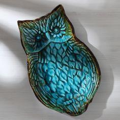Ceramic Owl Tray/Soap Dish