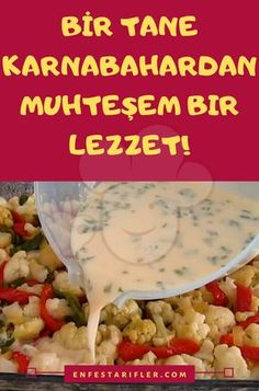 Baked Cauliflower, Cauliflower Recipes, Turkish Recipes, Desert Recipes, Vegetable Dishes, Mac And Cheese, Food Court, Natural Health, Cookie Recipes