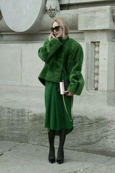 Green monochrome.
