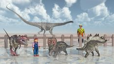 Family in the park of the dinosaurs by Michael Rosskothen
