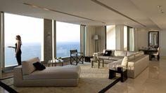 diseño de salón moderno con vistas