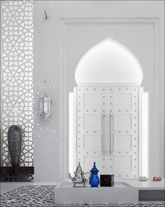 Moroccan Style Interior Design The horseshoe arches are extremely common in Moroccan design and are characterized by a large round