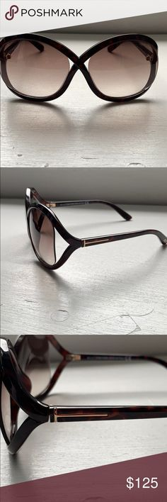 d335f82a18e Tom Ford Whitney sunglasses. Tom Ford dark brown tortoise frame with brown  gradient lens.