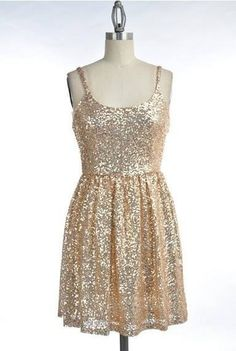 Women's Gold Sequin Dress  Dancing in the by RMwomensclothing, $47.00