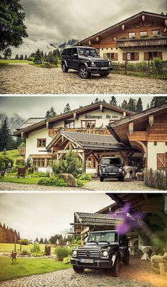 The G-Wagon on an adventure through the alps. Photos: Johannes Glöggler (www.johannesgloeggler.de) #MBsocialcar