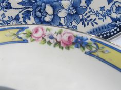 Country Plate Set John Maddock & Sons by JPdesignedcreations