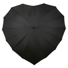 black heart umbrella. This would look cute in black and white wedding photos