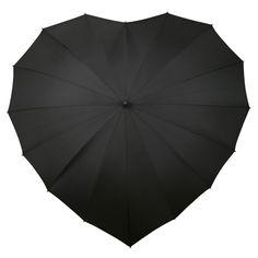 black heart umbrella