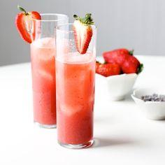 Strawberry Lavender Cocktail #recipe