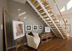 open stairs | The open stairs are an beautiful architectural feature.