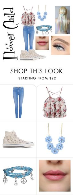 """""""Flower Child"""" by bree70475 on Polyvore featuring Paige Denim, Converse, J.Crew and Bling Jewelry"""