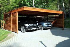 Abri de voiture en bois – 18 idées DIY modernes pour abriter son véhicule