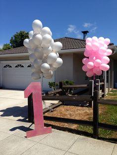Alivias pink and grey elephant birthday bash