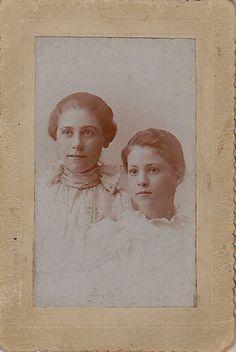 Aunt Liz is the smaller one.  Read about my Aunt Liz on my blog gailgrunstgenealogy.wordpress.com