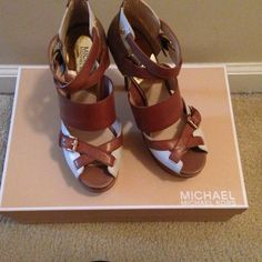 Sandals Only time these babies were worn was to try them on!!! Very stylish! Michael Kors Shoes Sandals