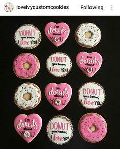 .Valentines donut cookies