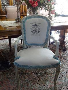 LittleMissMaggie: French Chair Makeover