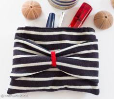 Schminktäschchen aus Pullover / Make-up bag made from old shirt / Upcycling