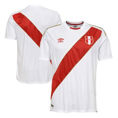 333b08181f4 Umbro Peru World Cup 2018 Soccer Jersey (Home)   SoccerEvolution