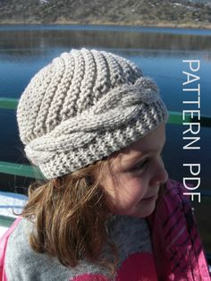 Instant Download Knit hat pattern 2 6 Years Old  Girl Hat by Ebruk