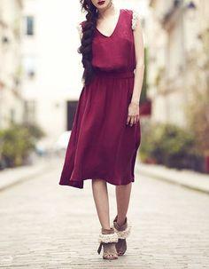 Florence Parriel Farruca - Silk - Women's Pleated #dresses