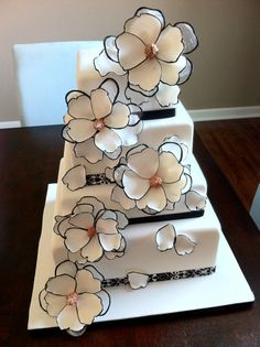 So Funky & Cute! This would be great for a Wedding or a Birthday Cake. Either Way, I want to make it!