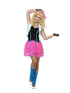 Pink and White Style Wild Women Adult Halloween Costume - Large Easy 80s Costume, Best 80s Costumes, 1980s Halloween Costume, Girl Costumes, Costumes For Women, Adult Halloween, Adult Tutu Skirts, 80s Skirts