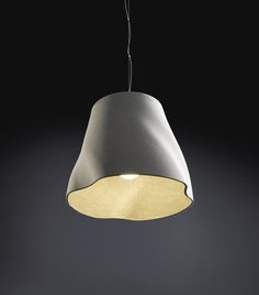 """worclip: """"Soft Lights by Rainer Mutsch for Molto Luce Material: fiber cement """" Each individual luminaire shade is moulded manually from soft fibre cement: the shades get their stability through. Design Museum, Cement, Concrete, Lamp Light, Lighting Design, Geometry, Chandelier, House Design, Ceiling Lights"""