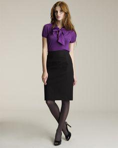Purple and black.