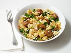 Get Pasta With Turkey Meatballs Recipe from Food Network