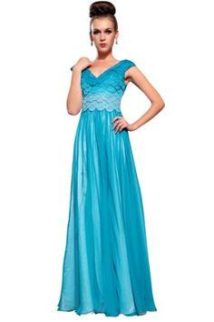 BPSFStudios Blue V-Neck Women's Formal Evening Gown w/ Sheer Skirt - XL - Blue BPSFStudios http://www.amazon.com/dp/B00J7J4Z5G/ref=cm_sw_r_pi_dp_0PV1ub017YQBS