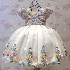 Little Bride Ivory Junior Bridesmaid Flower Girl Dress Kids Beauty Holy Communion Pageant Ball Gowns Prom Dresses Gown For Girls Baby Girl Birthday Dress, Baby Girl Party Dresses, Birthday Dresses, Little Girl Dresses, Wedding Party Dresses, Baby Dress, Flower Girl Dresses, Cute Baby Clothes, Doll Clothes