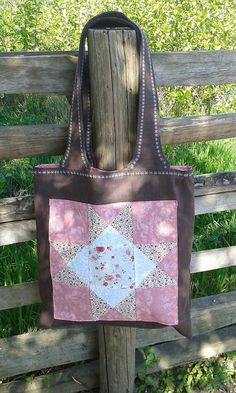 lienka97 / Nákupná taška s patchworkovou aplikáciou 3