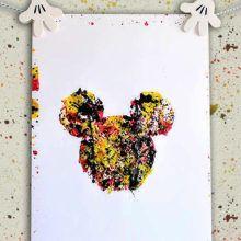 Cuadro de Mickey Mouse de salpicaduras
