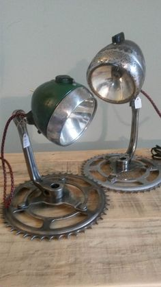 Upcycled Bicycle Lamp by BauckhamDesigns on Etsy
