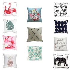 """pillow talk"" by sparklersmagazine on Polyvore featuring interior, interiors, interior design, home, home decor, interior decorating, New Directions, John Lewis, Crown & Ivy and Mirabello"