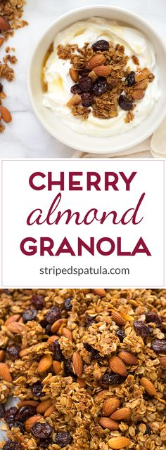cherry almond granola with whole roasted almonds dried cherries ...