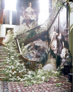 overgrown stairs