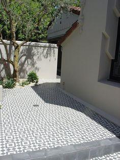 Cement tile, great look for verandah