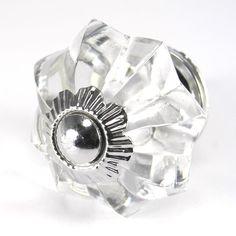 24 Glass Cabinet Knobs Kitchen Drawer Pulls Furniture Handle Hardware #K55CH #romanticdecormore